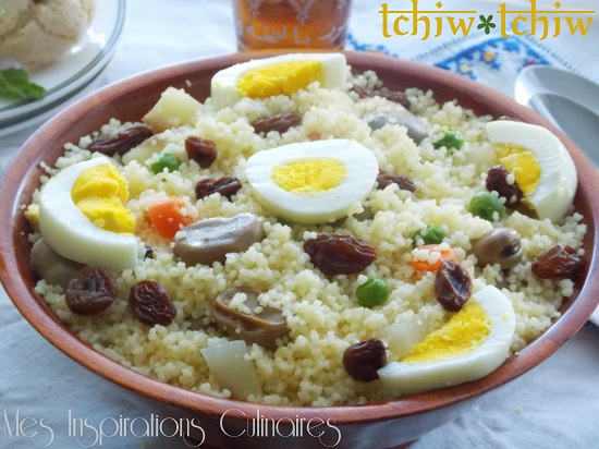 Couscous kabyle aux légumes vapeurs {tchiw-tchiw}