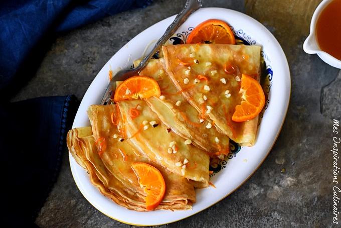 Recette crêpes sans oeufs, sauce à l'orange
