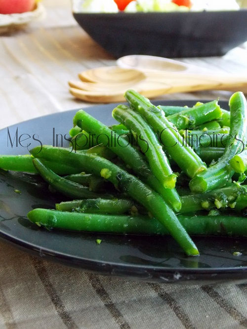 haricots vert à la persillade