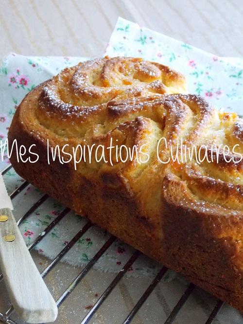 recette brioche roulée à la marmelade d'orange