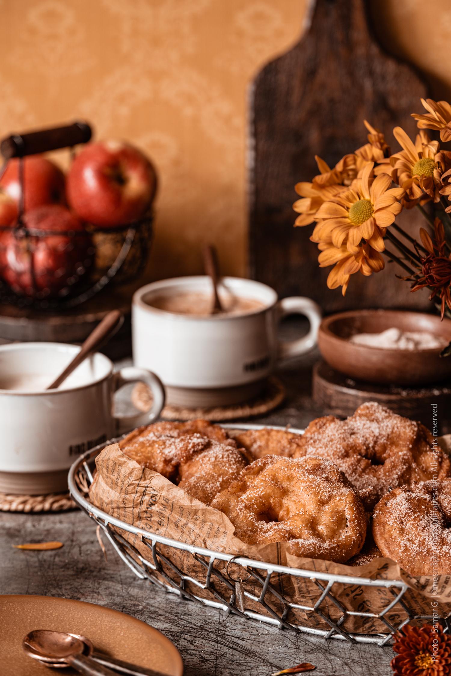 beignet aux pommes et cannelle