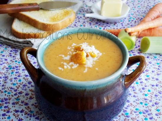 Soupe au tapioca et aux legumes d'automne