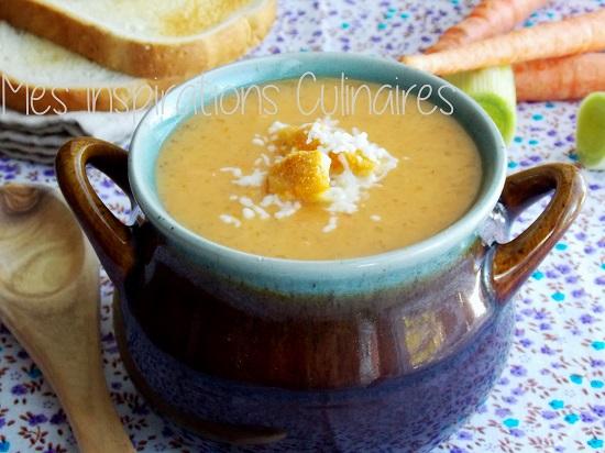 Soupe au tapioca et aux légumes