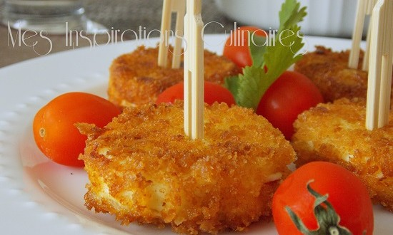 Ch vre chaud pan au panko le blog cuisine de samar - Amuse bouche chaud ...