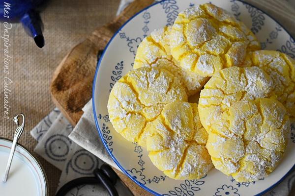 Lemon crinkle recette des craquelés au citron