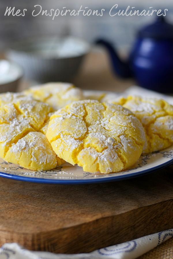 Recette craquelés au citron ou Lemon Crinkle