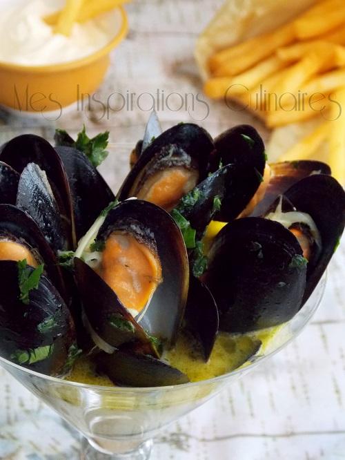 Les moules marinières {sans vin blanc}