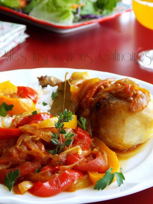 poulet basquaise facile