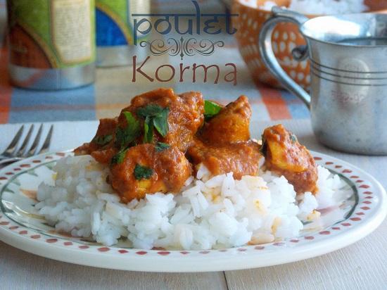 poulet korma le blog cuisine de samar. Black Bedroom Furniture Sets. Home Design Ideas