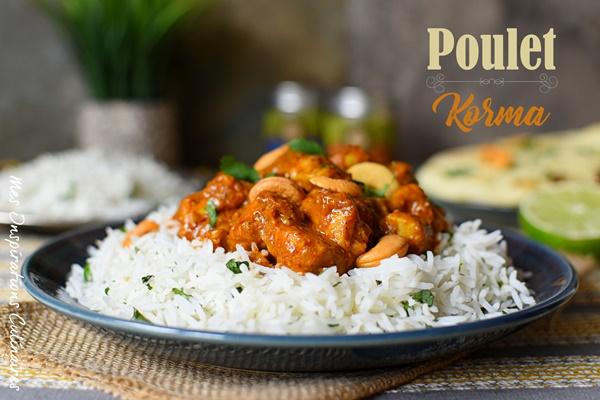 Poulet Korma cuisine indienne