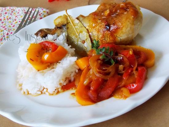 Recette poulet basquaise le blog cuisine de samar - Recette de cuisine antillaise facile ...