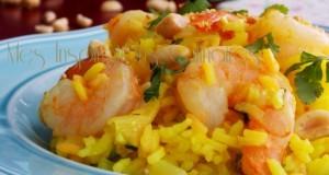 riz pilaf au lait de coco et crevettes1