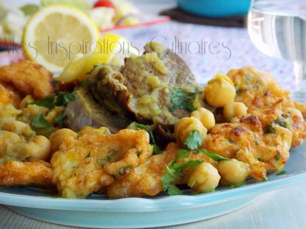 beignets de chou-fleur sauce blanche, cuisine algéroise | le blog