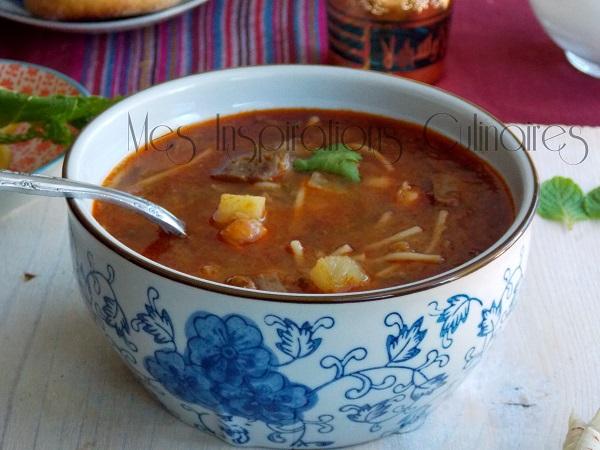 Chorba algéroise hamra (sauce rouge)