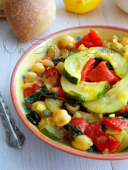 Salade de pois chiche à l'orientale