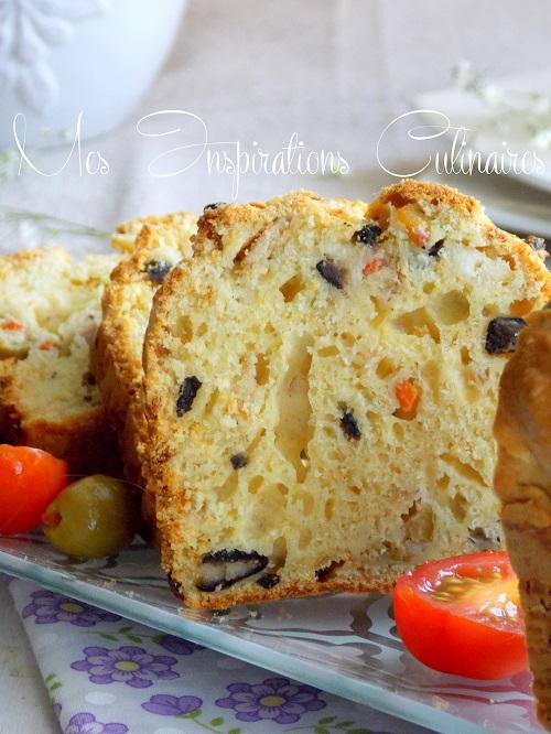 Cake salé aux olives thon et feta