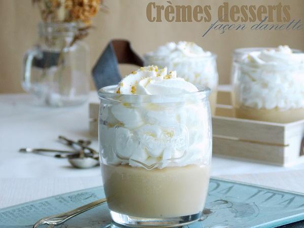cremes desserts facon danette