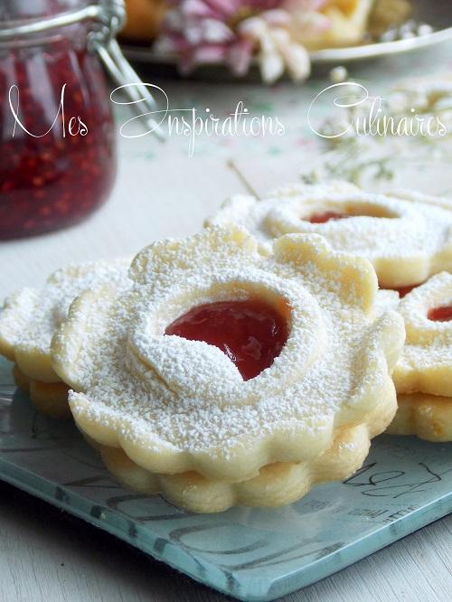 Sablés à la confiture de fraises maison