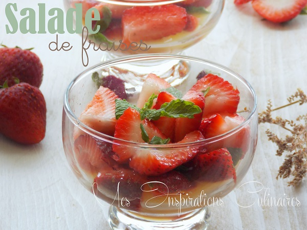 salade de fraises a la menthe le blog cuisine de samar. Black Bedroom Furniture Sets. Home Design Ideas