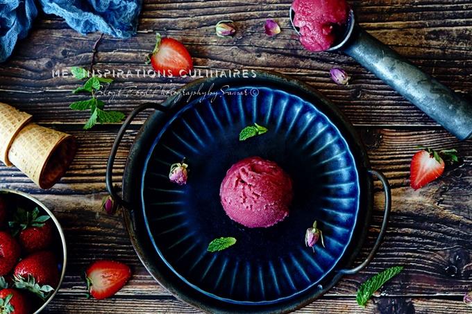 Sorbet aux fraises sans sorbetière