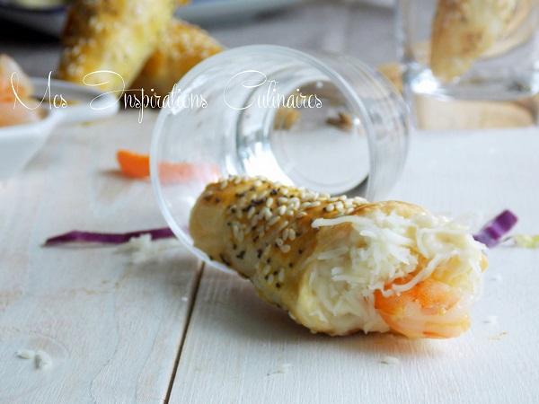 cornets feuilletes crevettes sauce bechamel 1