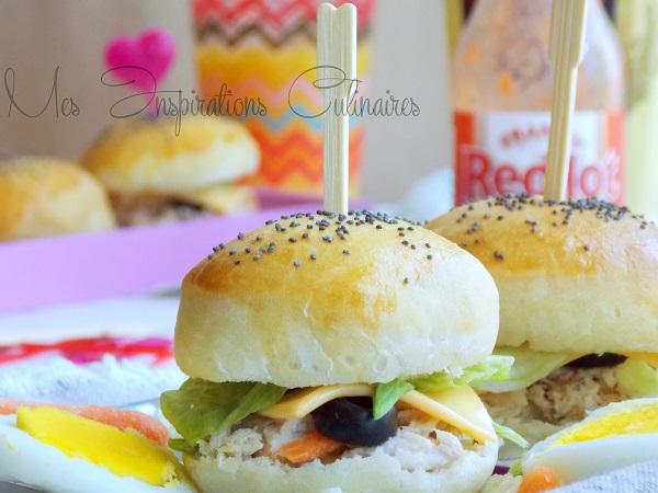 mini burger moelleux au thon et olives