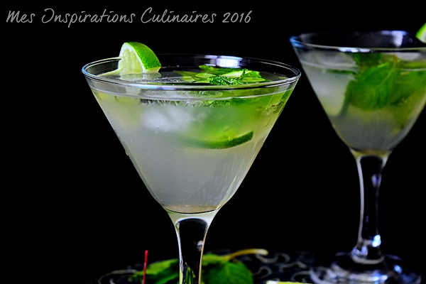 Mojito sans alcool, cocktail menthe et citron vert (cocktail Cuba)