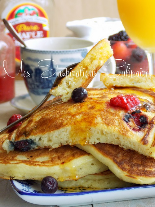 pancakes au yaourt moelleux