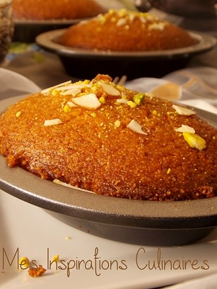 Basboussa aux pistaches {بسبوسة}  / recette ramadan