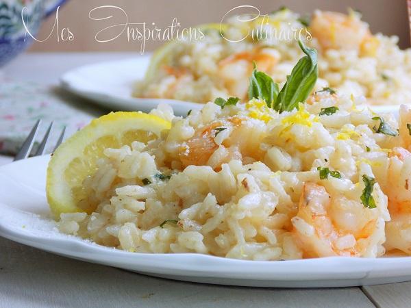 risotto cr meux aux crevettes parmesan et basilic le blog cuisine de samar. Black Bedroom Furniture Sets. Home Design Ideas