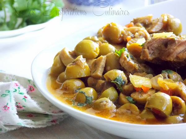 Tajine d'agneau aux olives & au citron confit