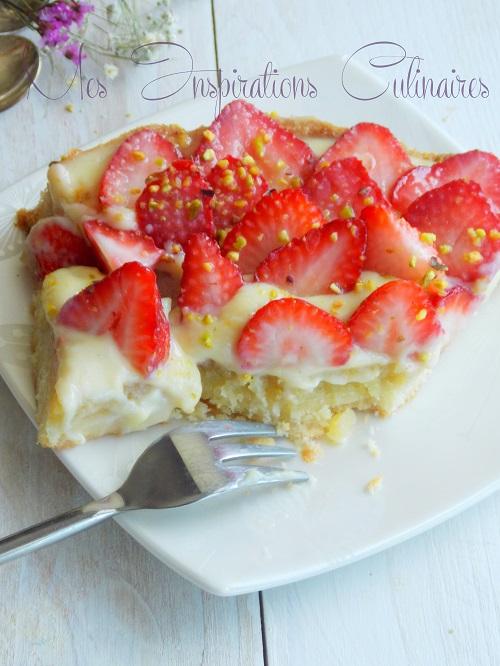 tarte aux fraises a la creme amandine de michalak