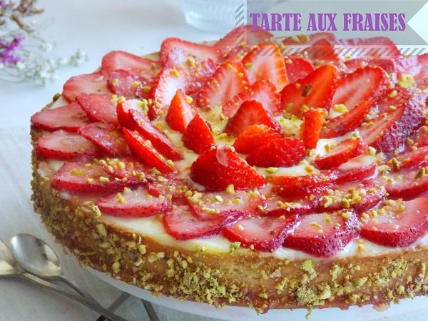 tarte aux fraises creme d'amande michalak