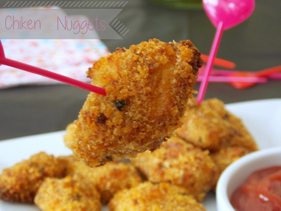 Chicken nuggets au four {cuisine saine}