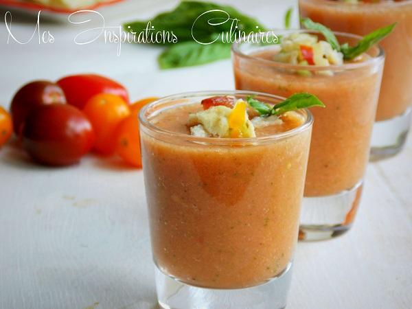 gaspacho tomate et concombre