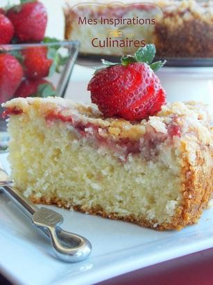 Gateau aux fraises {coffee cake}