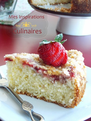 gateau aux fraises coffee cake le blog cuisine de samar. Black Bedroom Furniture Sets. Home Design Ideas