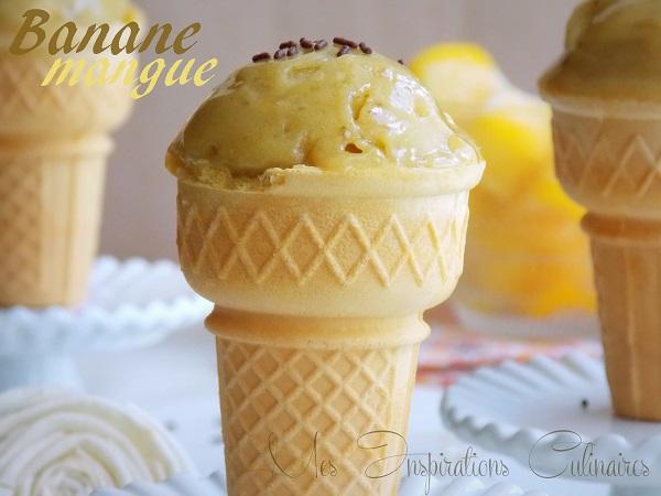 glace mangue et banane