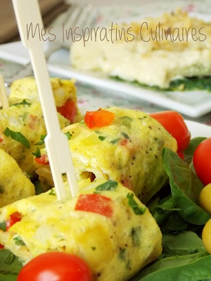recette omelette roulée aux herbes