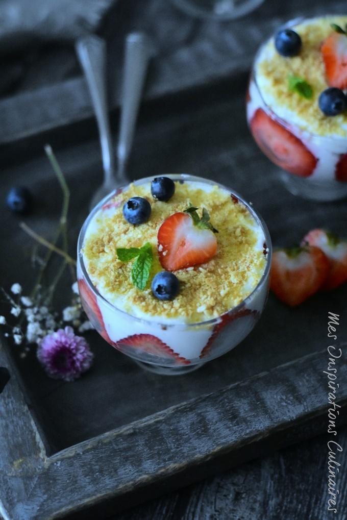 Tiramisu sans oeufs aux fraises