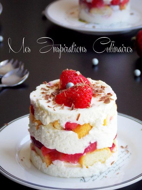 recette tiramisu fraise sable