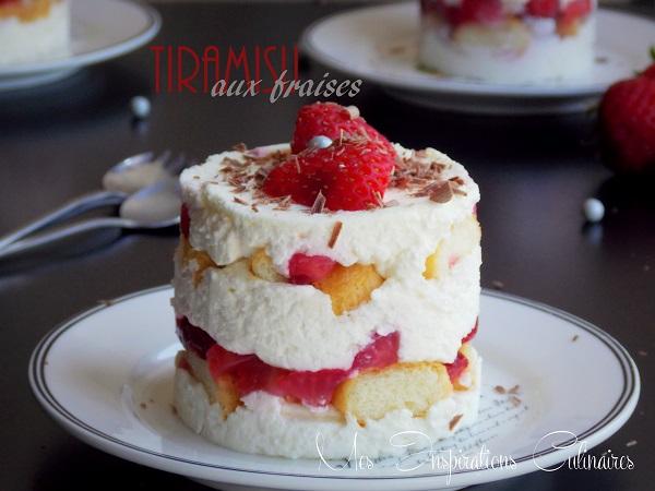 Tiramisu aux fraises recette sans oeufs le blog cuisine de samar - Recette de cuisine sans oeuf ...