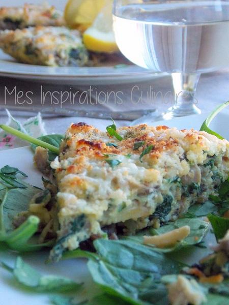 Omelette espagnole aux épinards{Tortilla}