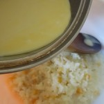 creme anglaise et riz