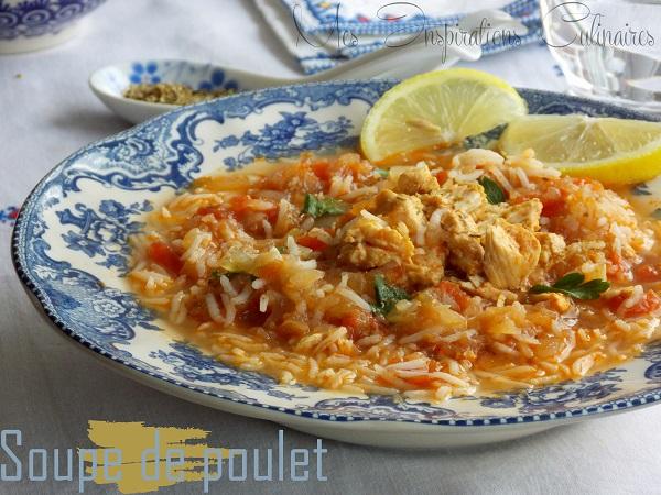 soupe poulet riz 1