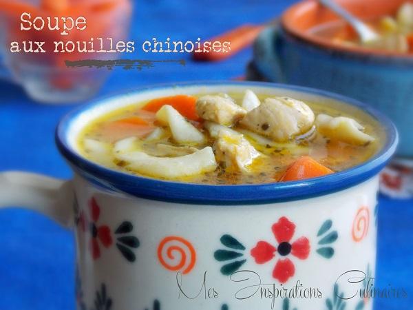 recette soupe aux nouilles chinoises et au poulet facile