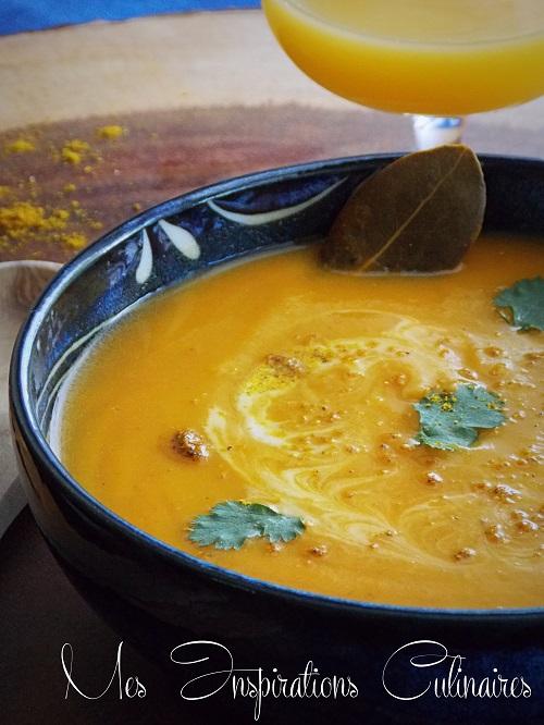 soupe veloutée de potimarron