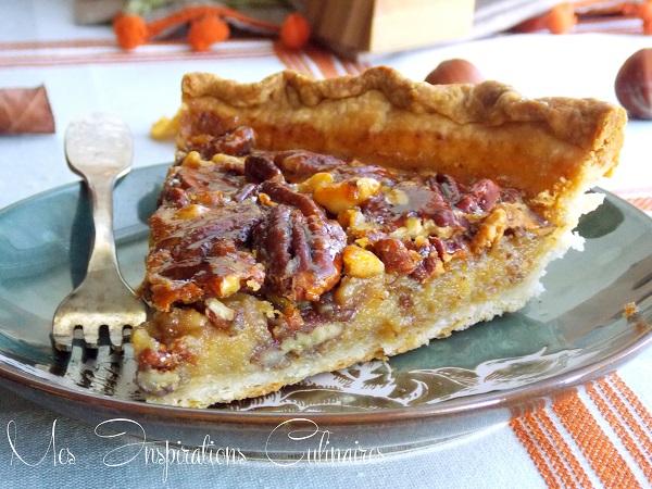 tarte aux noix de p can pour thanksgiving le blog cuisine de samar. Black Bedroom Furniture Sets. Home Design Ideas