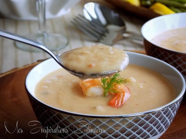 bisque de crevettes fraiches recette facile