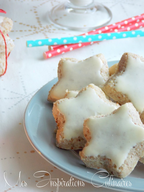 biscuits étoiles de noël à la cannelle : Zimtsterne